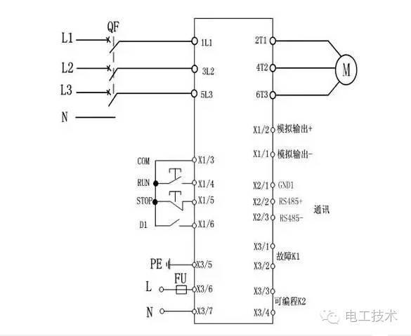 软启动工作原理以及常用的五种电机软启动器接线图