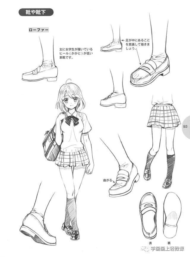 正文  「推荐」手绘漫画人物初学者教程之脚的画法,丝袜美少的脚&腿的