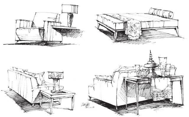 室内设计基本功:超全的手绘表现基础方式!