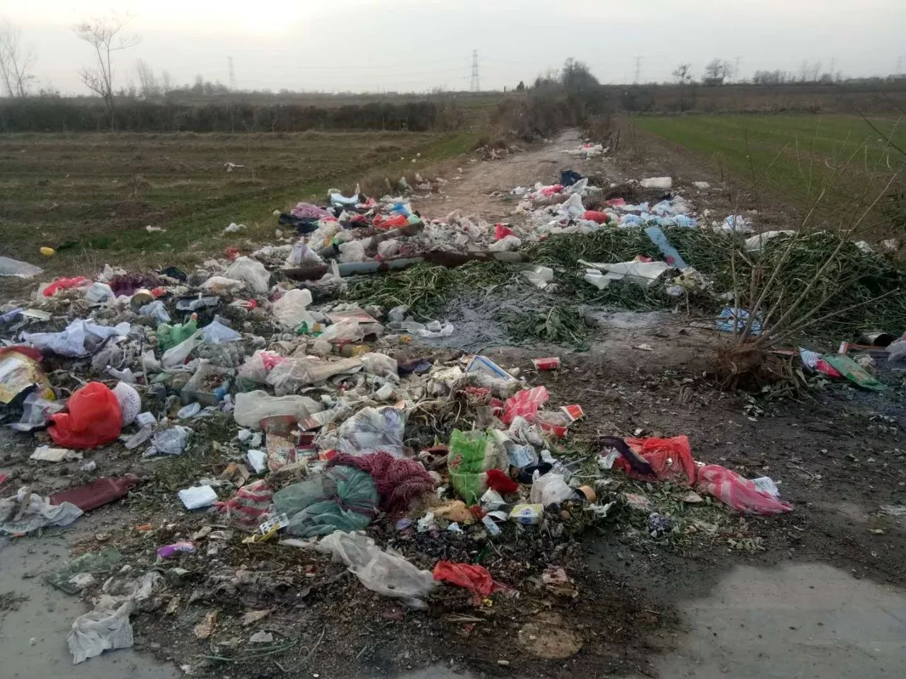 成堆得塑料垃圾,不仅污染环境,对土地也事一种伤害.