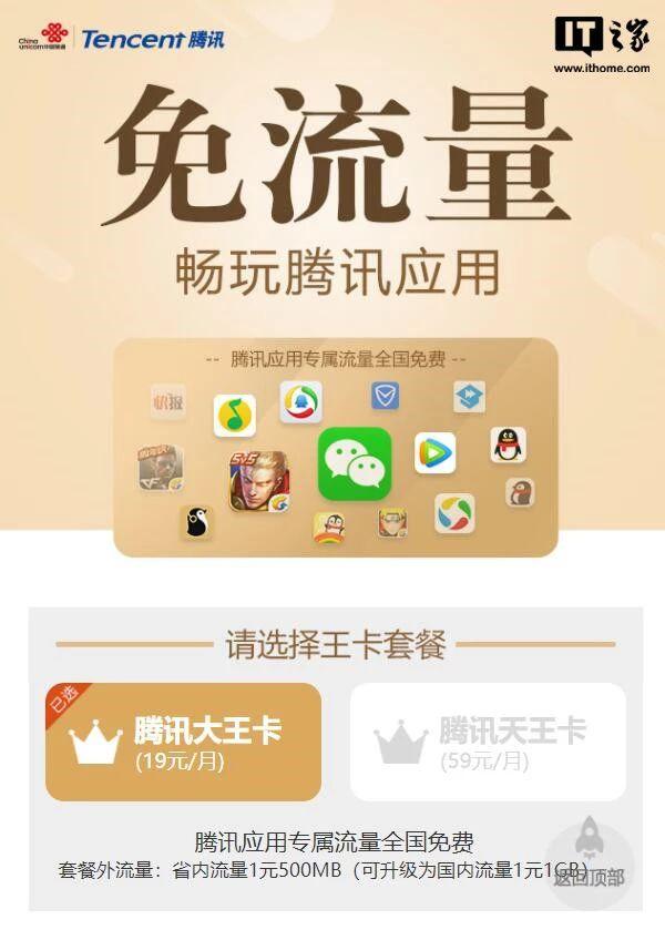 港彩资料腾讯大王卡指定用户每月赠送200分钟通话