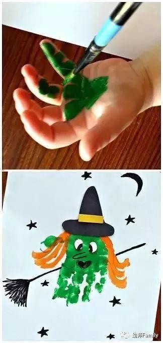 最有趣 有创意的幼儿园手掌印画,老师们学起来图片