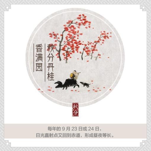 中国传统24节气的手绘