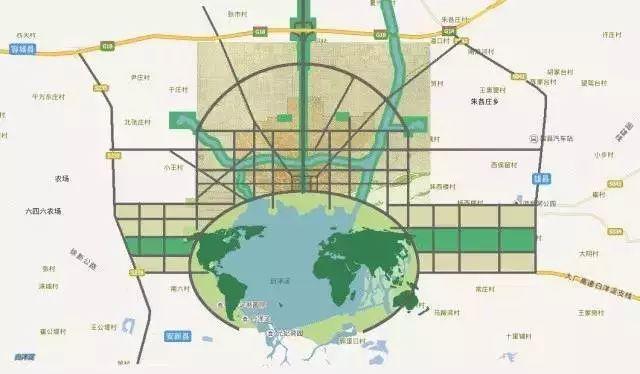 雄安新区规划图