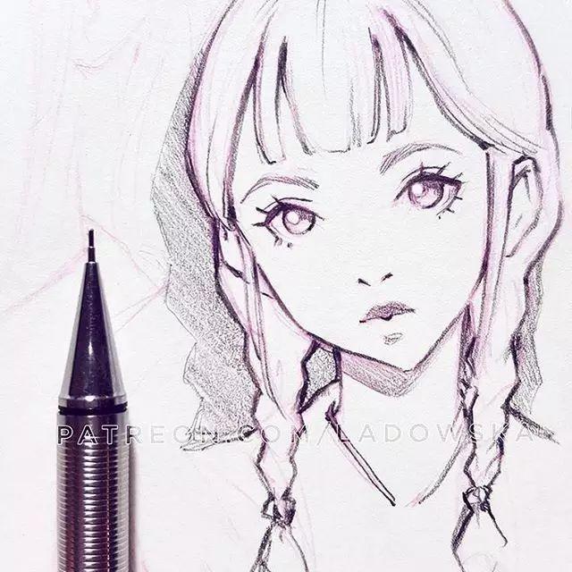 小清新的美少女漫画,拿去做头像吧!