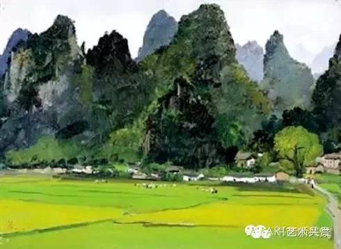 吴冠中 桂林的村庄