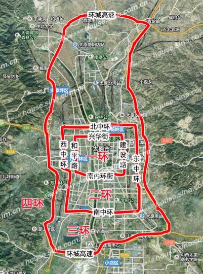 南內環街,和平路將形成太原市的一環(內環),四條道路規劃為內環快速路圖片