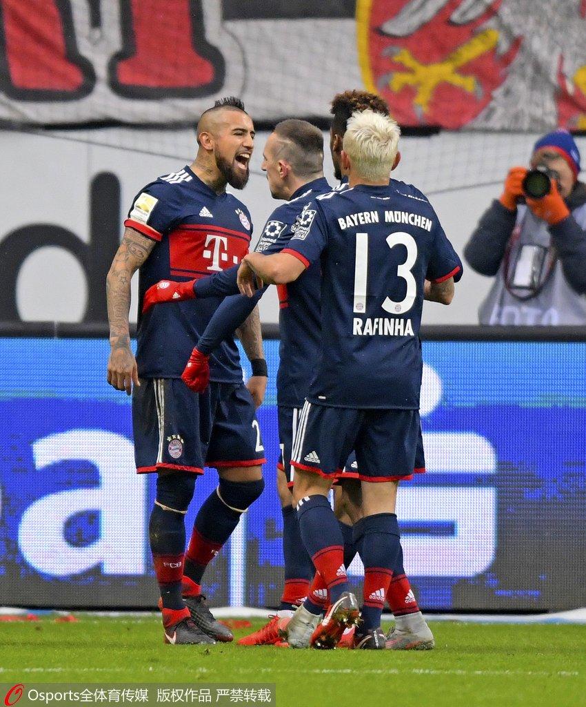拜仁评分:比达尔博阿滕获高分穆勒低迷遭差评