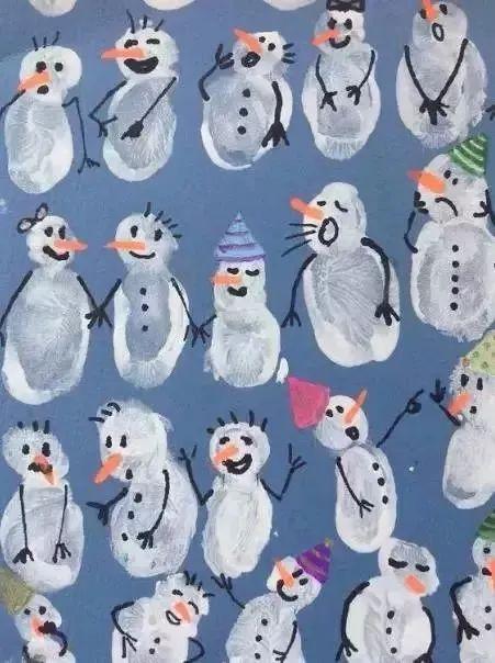 宝宝手工制作雪人