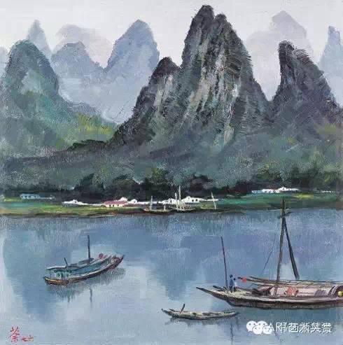 吴冠中 桂林山水 1976年