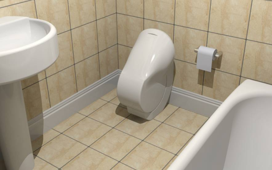 折叠马桶让卫生间变大,颠覆200多年的传统设计