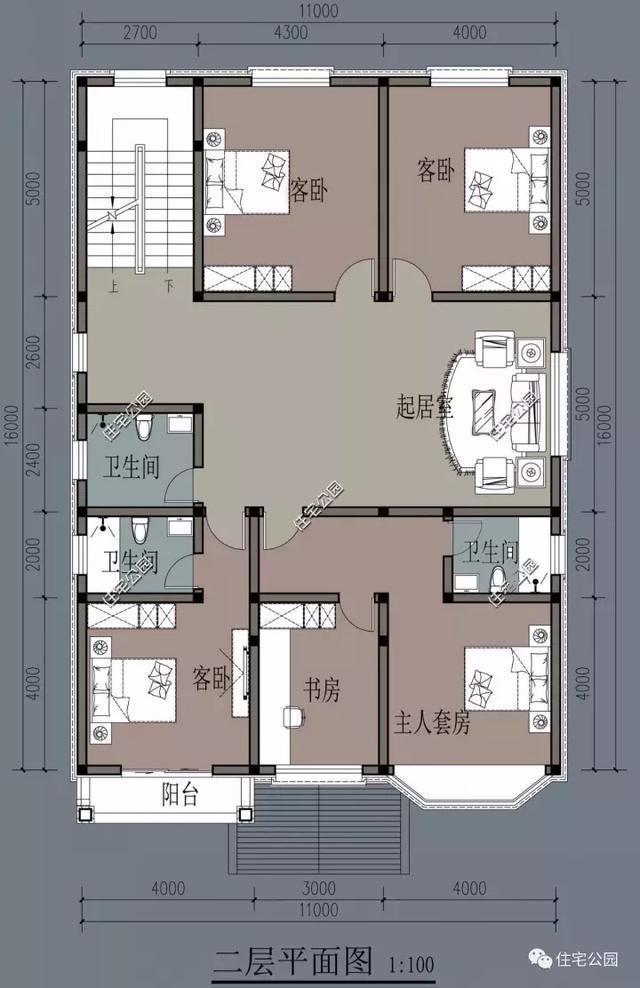 自建小户型别墅设计图纸展示图片