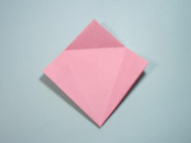 儿童手工折纸花 花朵的折法步骤图解图片