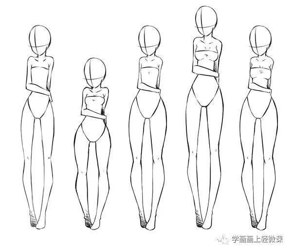 「推荐」动漫人物身体结构画法之女性