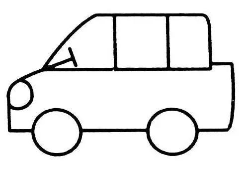 小客车简笔画
