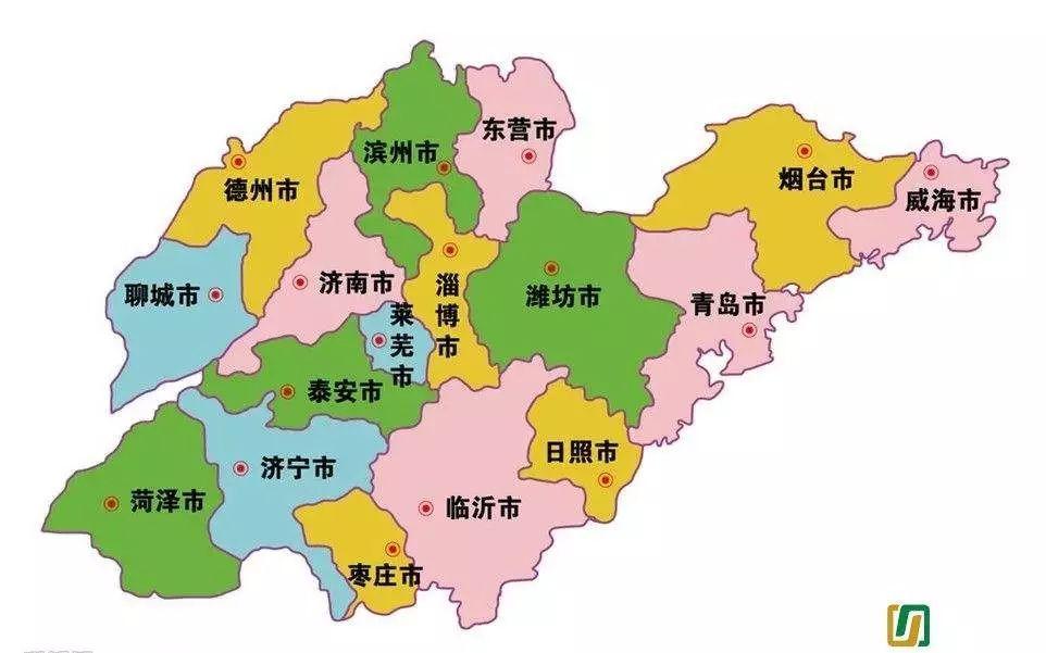 济南趵突泉手绘地图