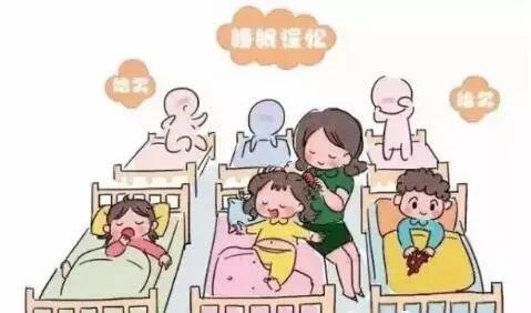 小朋友睡觉卡通图片
