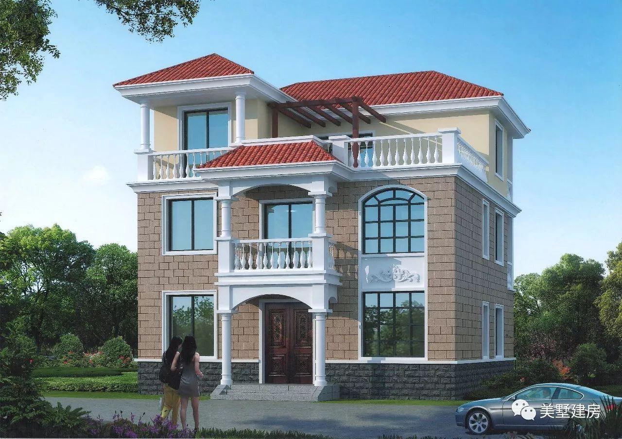 其它 正文  农村别墅款式一: 占地尺寸:11x11米 占地面积:126.