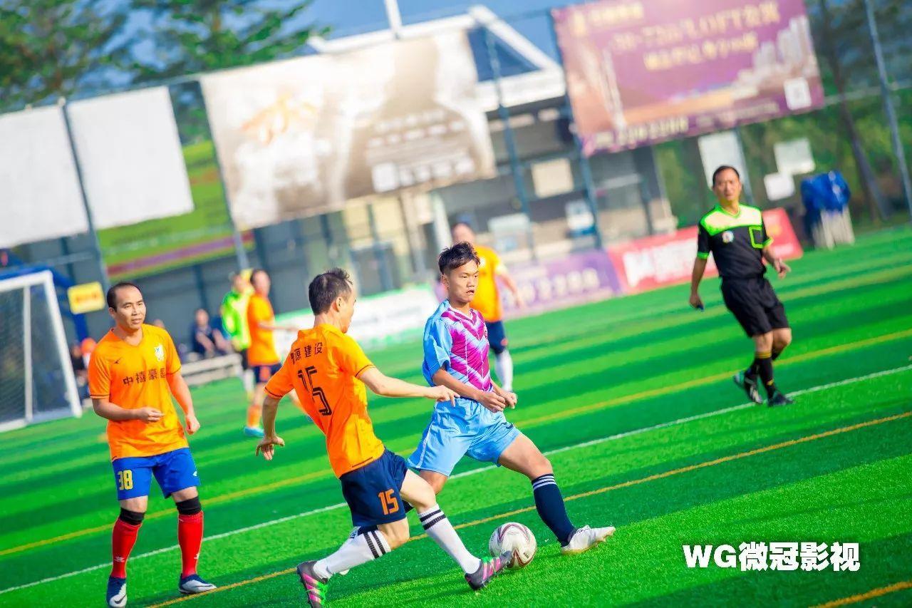 今天开平这里上演香港足球明星队表演赛