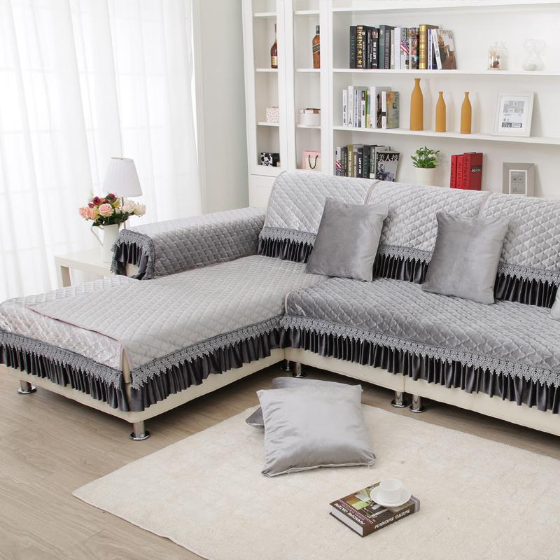 别再用客人都嫌弃的沙发套了,今年流行万能沙发罩,洗漱更方便图片