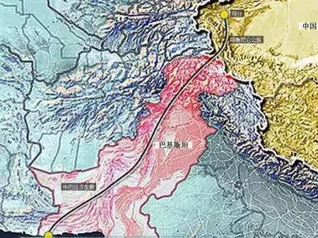 经过中巴边境口岸红其拉甫山口,南到巴基斯坦北部城市塔科特(thakot)图片