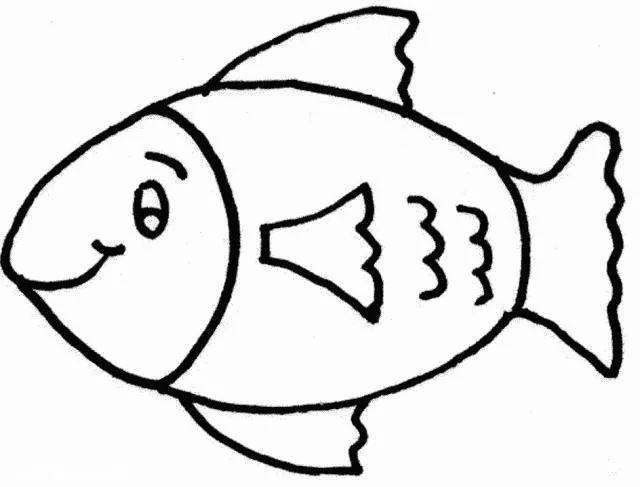 儿童简笔画鱼图片大全 小鱼简笔画图片