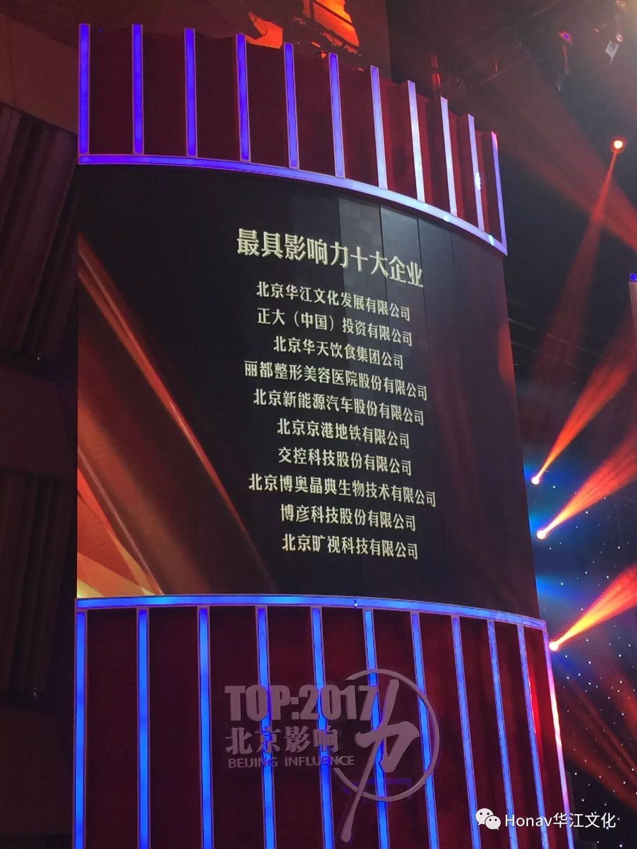 """再获京城产经界""""奥斯卡"""",华江文化荣膺""""北京最具影响力的十大"""