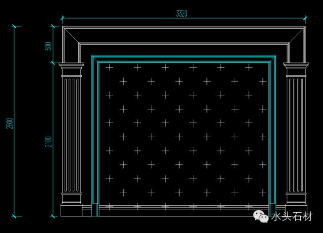 99套石材背景墙的cad设计图纸!免费放送!