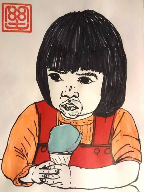 这也让奥村在摸索中画出了自己的独特风格,   也表现出了非凡的画画天赋,   可是奥村却从   三岁起就开始喜欢上了画画,   每天拿着画笔自己随心所欲的画着.