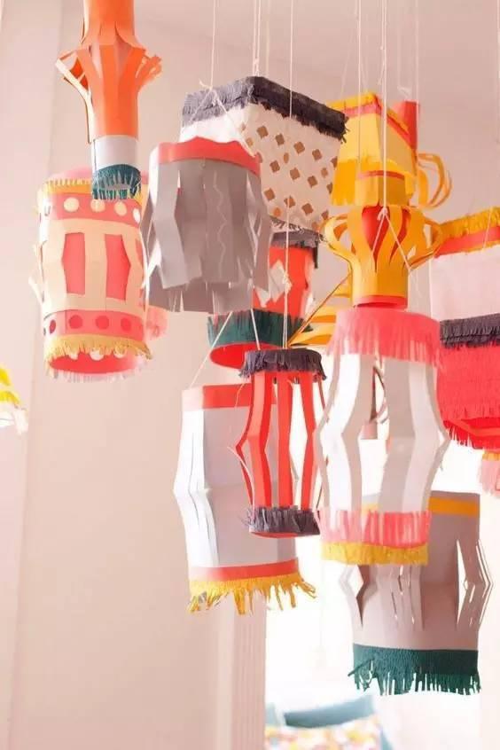 旦新年必备纸艺小灯笼手工制作,美美的