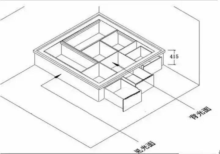 另外,如果榻榻米需设计升降桌,那其高度不能低于升降桌收进榻榻米内图片