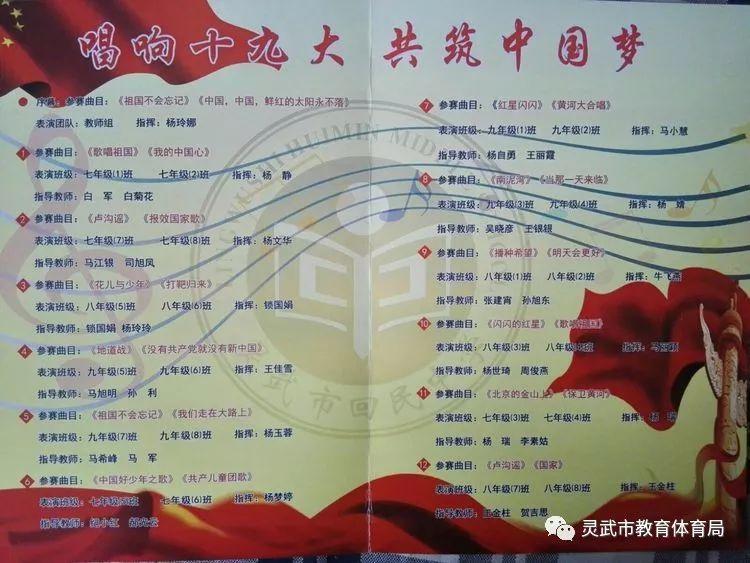 """【校园动态】""""唱响十九大,共筑中国梦""""——灵武回中举行纪念""""一二·九"""
