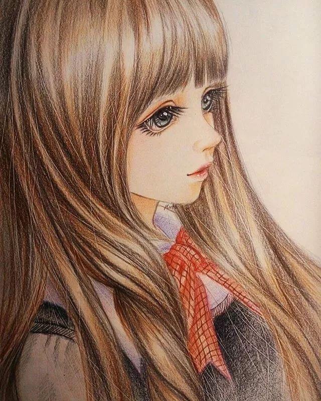 她笔下的美少女清新唯美,线条迷人,简直就是一本手绘教程!