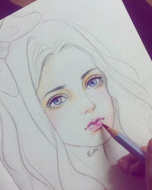 眼睛的绘画技法: 彩铅人物肖像就不难画了 学好人物头像不难 还需