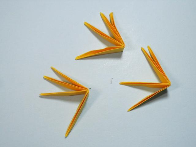 儿童手工折纸花 菊花折纸步骤图解图片