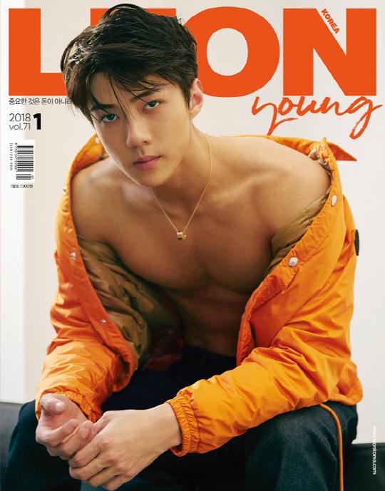 乐讯 韩国男团EXO成员世勋为某时尚杂志拍摄的最新封面画报12日