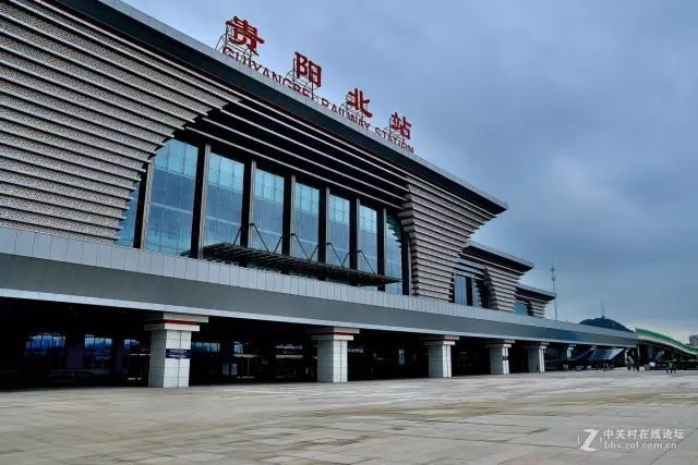 贵阳北站是贵阳高铁核心站,是西南最大规模的综合性铁路交通枢纽.图片