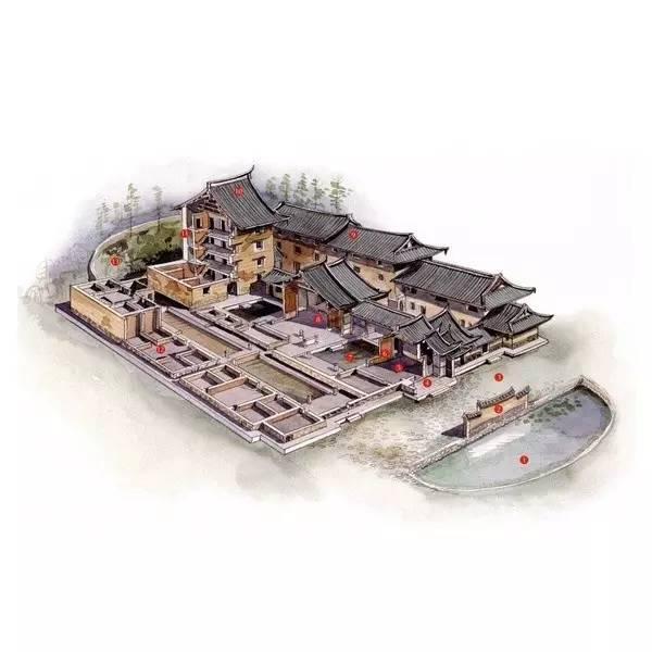 穿墙透壁,手绘中国经典古建筑!