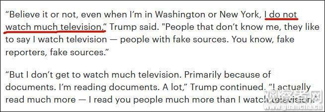 """特朗普怒斥美媒发假新闻:""""我哪有每天看8小时电视!也从来不看CNN!"""""""