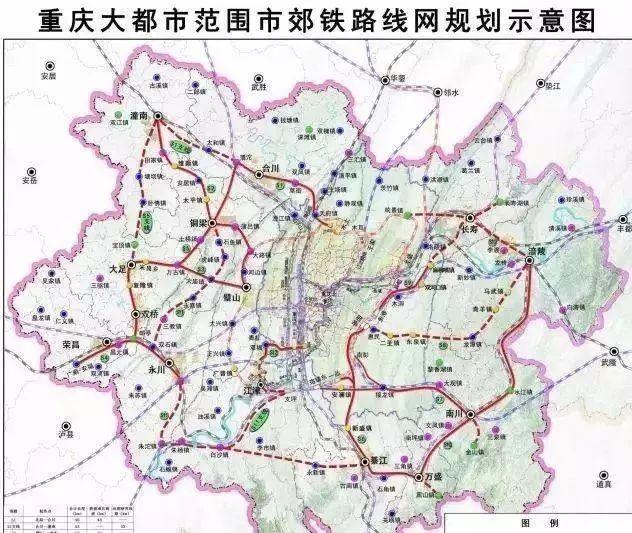 渝万铁路将在重庆北站与重庆轨道交通3号线,4号线,10号线及环线实现