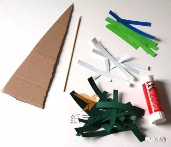 简单的儿童手工制作圣诞树diy教程