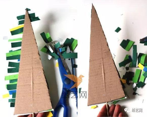 亲子手工!简单的儿童手工制作圣诞树diy教程