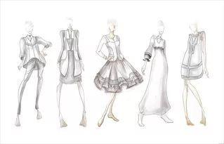职业装,老人装,休闲装…),手绘服装效果图(铅笔白描,钢笔白描,彩铅