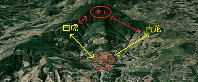风水位) 在住宅处右边建筑矮小或没有建筑则构成左高右低之局(左青龙