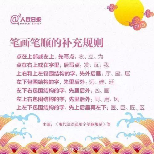 凸的笔画顺序图-什么 这些汉字笔顺规则,你都知道吗