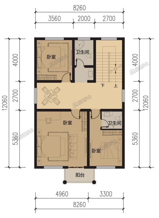 8x12米三层欧式别墅,入口设计经典大气