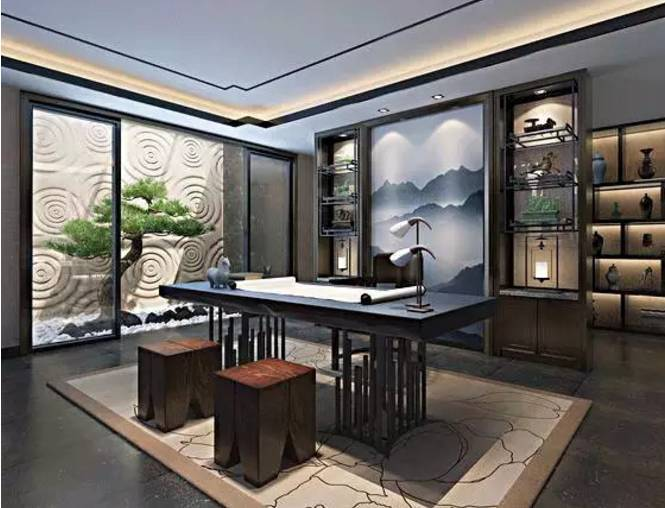 书房 茶室,最美不过新中式图片