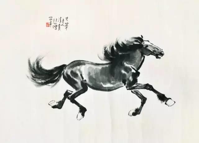 白石传人 齐良芷弟子 汤发周趣谈 齐白石贵人徐悲鸿的奔马,看了热血沸腾图片