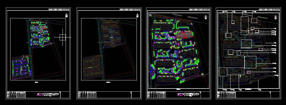第三步:园林景观总图工程图纸 6~8节主要通过案例讲解景观总图工程图