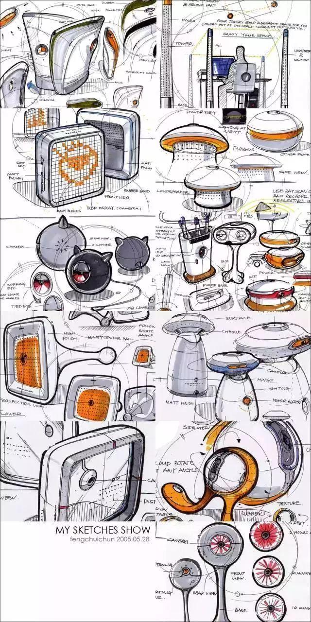 【素材】马克笔在产品手绘中的多元化表达